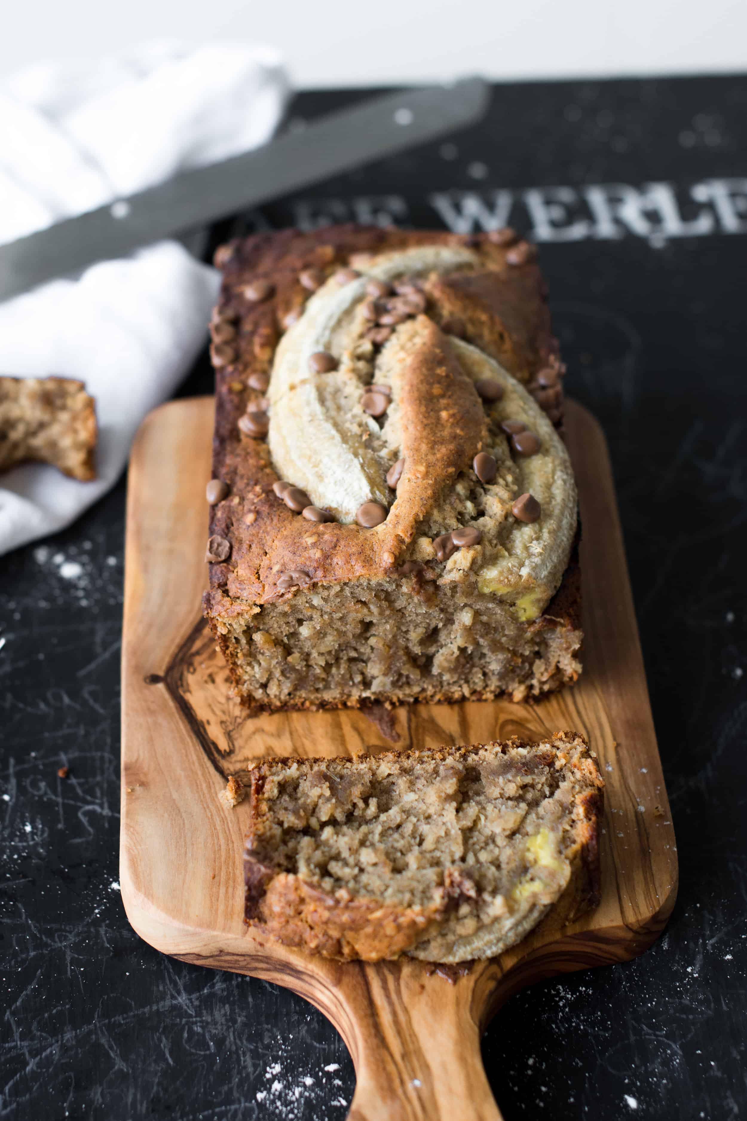 Image: vegan banana bread
