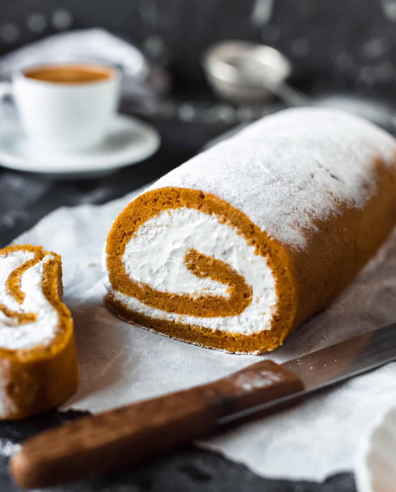 vegan pumpkin roll