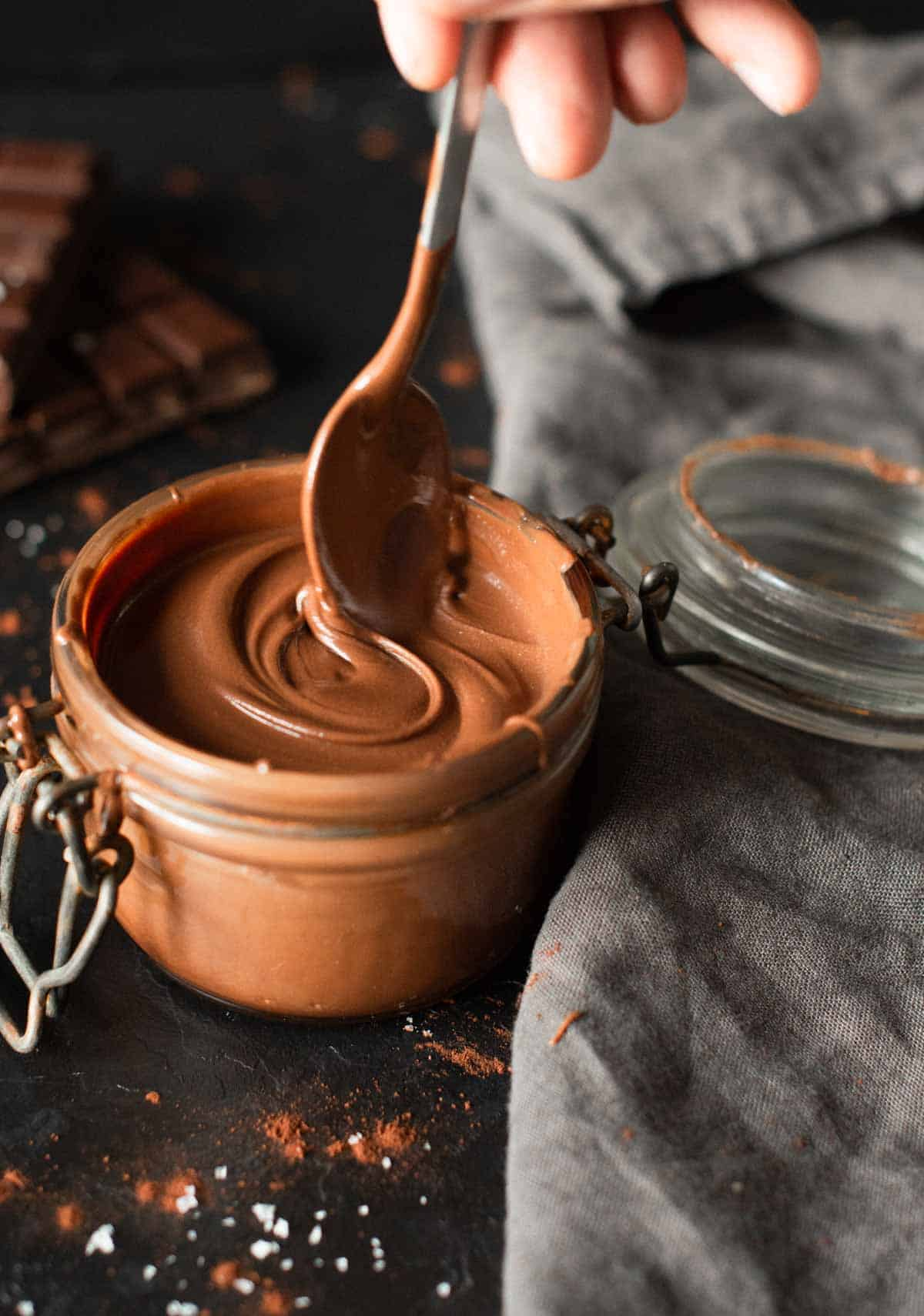 Image of homemade nutella