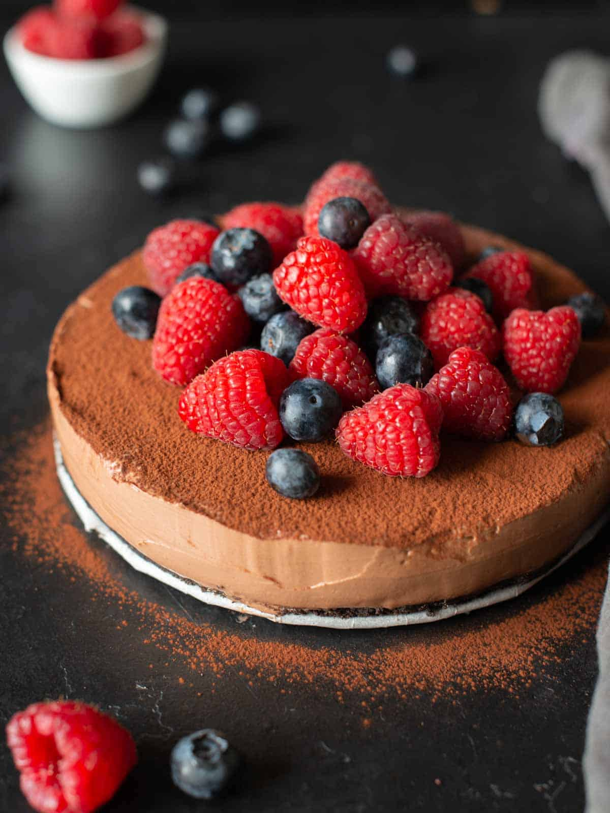 Imagine for the recipe for no bake chocolate cheesecake