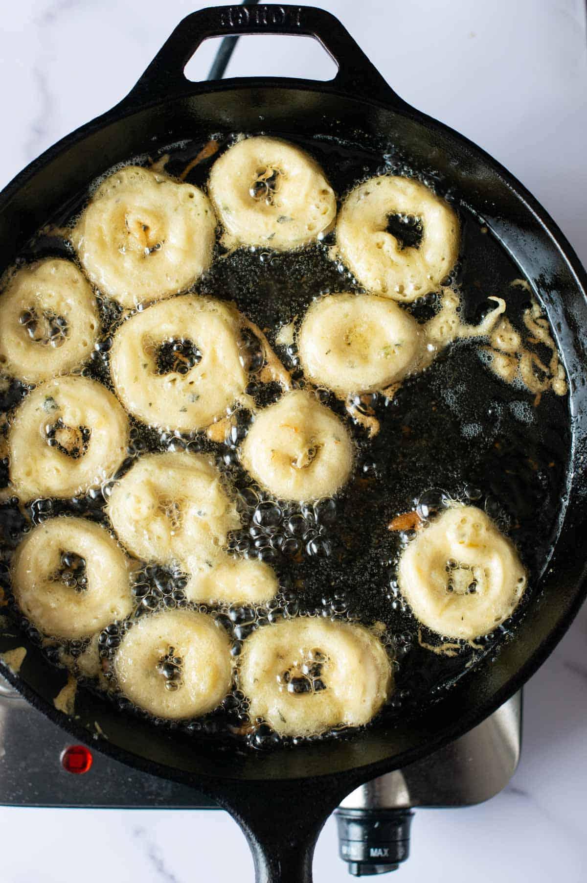 Bild: vegane frittierte Calamari