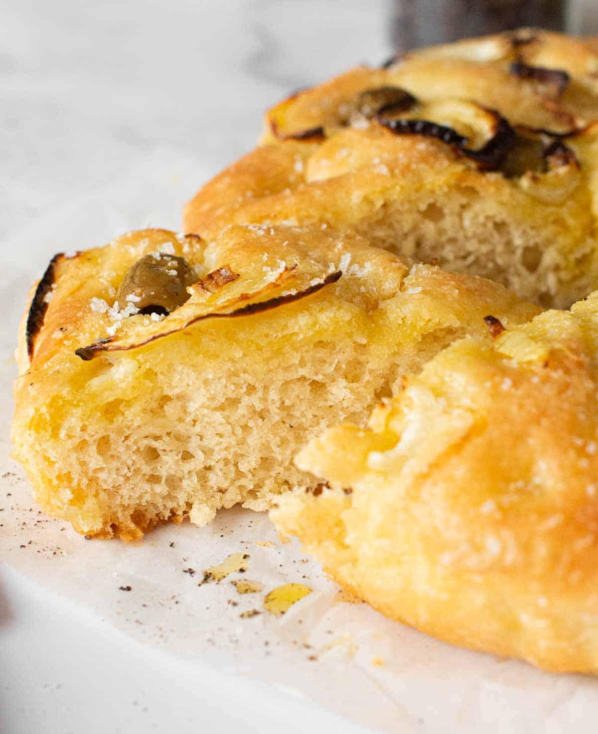 Image: focaccia no knead