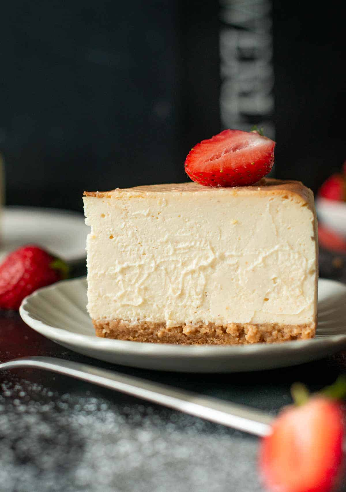 Image: easy vegan cheesecake