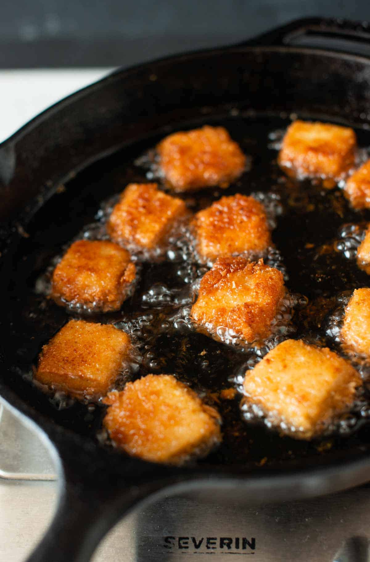 nuggets while frying