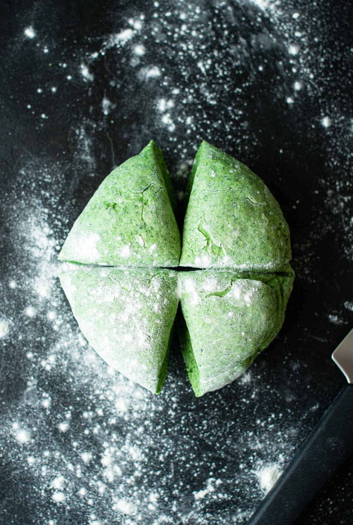 eggless spinach dough